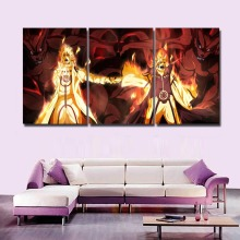 New Hot Sel 3 Pcs Modular Home Decor Wall Art Naruto Anime Paintings on Canvas for Decorations Artwork