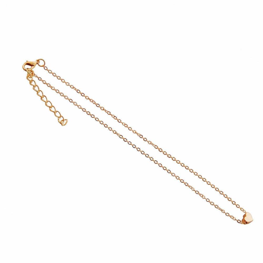 2018 collier coeur cristal chaud pour femmes romantique mode classique strass dames fille collier ras du cou ruban or argent #010