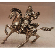China blanco Copper Silver Warrior paseo del caballo estatua buda copper decoration brass factory Pure Brass