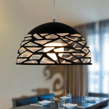 цены Semi circular Simple Creative Design Nordic Style Corridor Bedroom Study Chandelier Restaurant Bar Cafe Hollow Iron Chandelie
