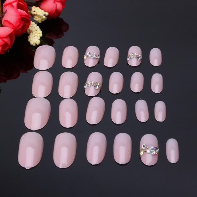 New Fashion Style 1Set/24 Pcs Acrylic Fake Fingernails Full Cover ...