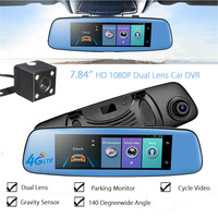 KROAK 7 84 Android 5 1 Dual Lens HD 1080P Car DVR 4G Rearview Mirror Dash