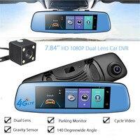 KROAK 7 84 Android 5 1 Dual Lens HD 1080P Car DVR 4G Rearview Mirror Dash