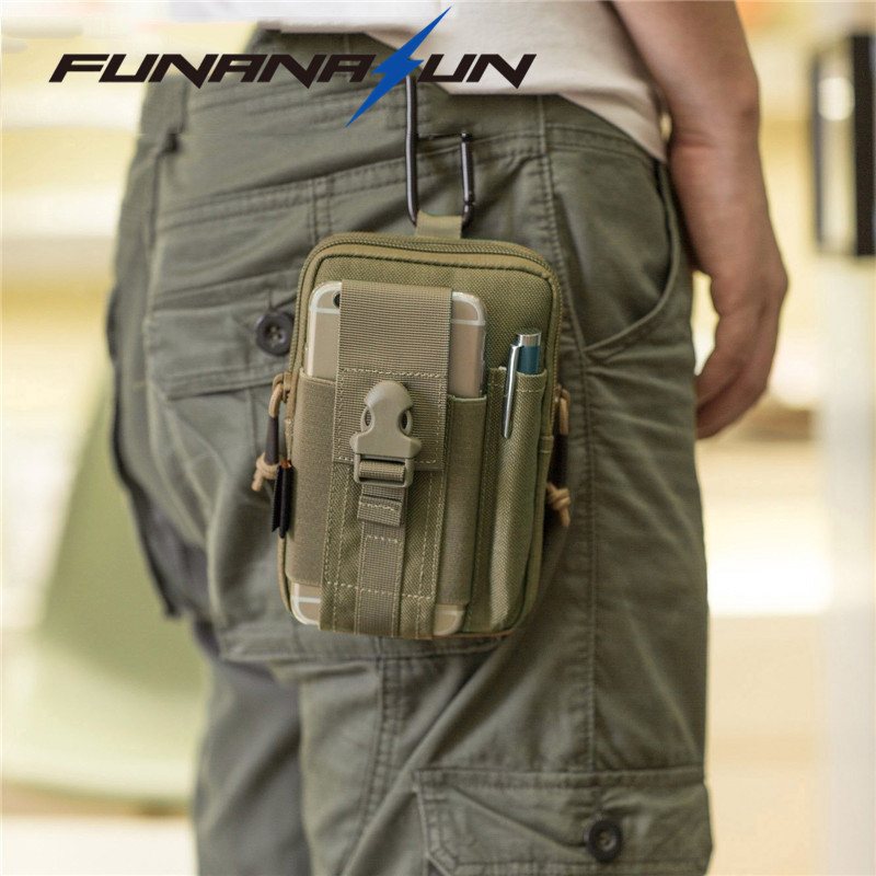 Tactical Compact Cell Phone Waist Bag Pack Military Molle Pouch Belt Clip Holster EDC Utility Gadget Waist Bag Olive Drab airsoftpeak military molle waist bag tactical edc pouches outdoor belt utility pouch tool zipper waist pack hunting bags
