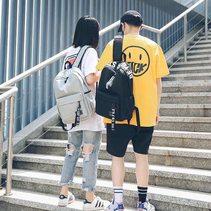 2019 черный женщин рюкзак женский мужские мужской нейлон мужчин школьный повседневный стиль студент школьные ранцы рюкзаки для девочек подростков женские