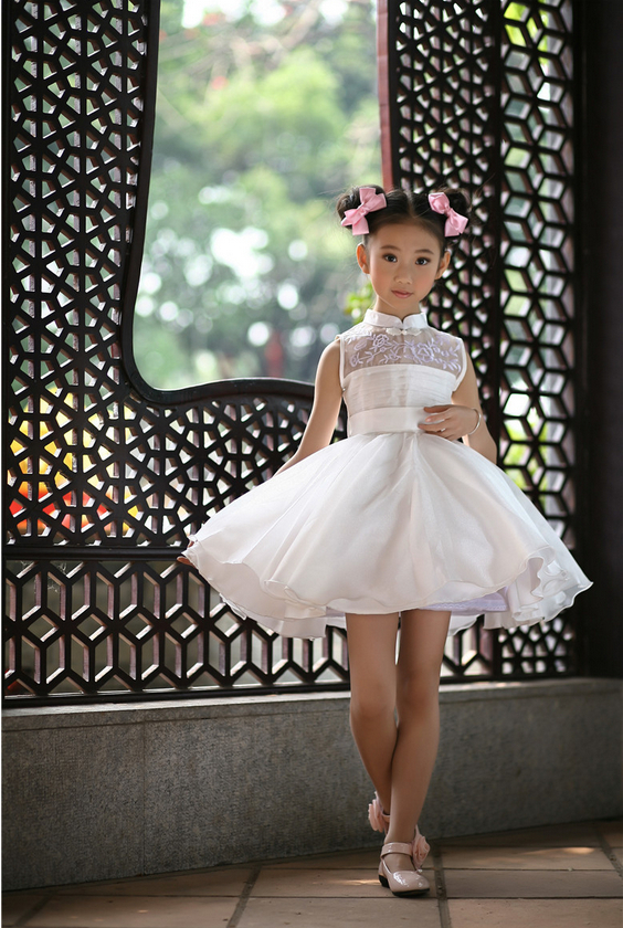 New Arrival Children Summer White Dress Wedding Dress Kids Girls ...
