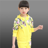 Kids Clothes Winter Hoodes Pants Two Pieces Suit Cotton Teenage Costume Girls Clothing Sets 12 Years
