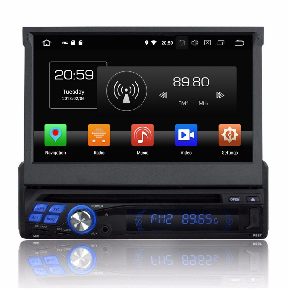 android 8 0 octa core 1 din 7 universal car dvd radio gps. Black Bedroom Furniture Sets. Home Design Ideas