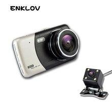 hot deal buy enklov 4.0 inch ips screen car dvr car camera full hd 1080p video 170 degree t810 dash cam dual recording dash camera fill ligh
