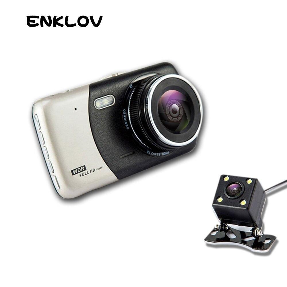 ENKLOV 4.0 Pouce IPS Écran Voiture DVR Voiture Caméra Full HD 1080 P vidéo 170 Degrés T810 Dash Cam Double Enregistrement Dash Caméra Remplir Ligh