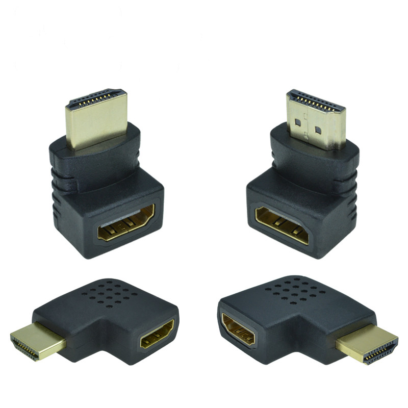 HDMI Male To HDMI Female Cable Adapter Converter Extender 90 Degrees Angle <font><b>270</b></font> Degrees Angle for 1080P HDTV Hdmi Adapter image