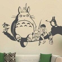Kreative Neue DIY wandkunst Miyazaki Totoro mit freunden wandaufkleber kinderzimmer dekoration wandaufkleber wohnzimmer tx-527