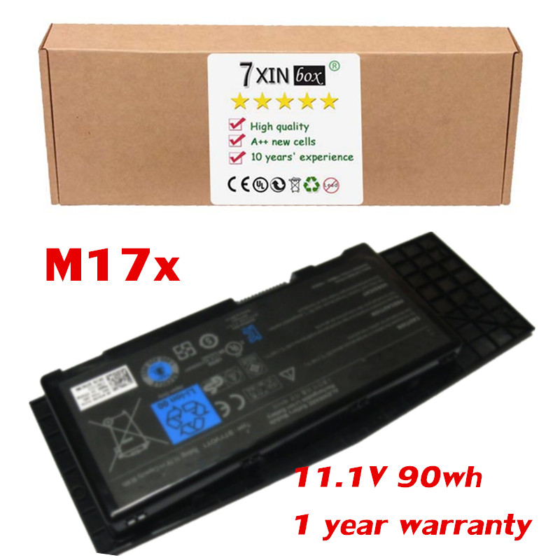11 1V 90wh Laptop Battery For Dell Alienware M17x R3 R4 AM17XR3 6842BK BTYV0Y1 7XC9N C0C5M