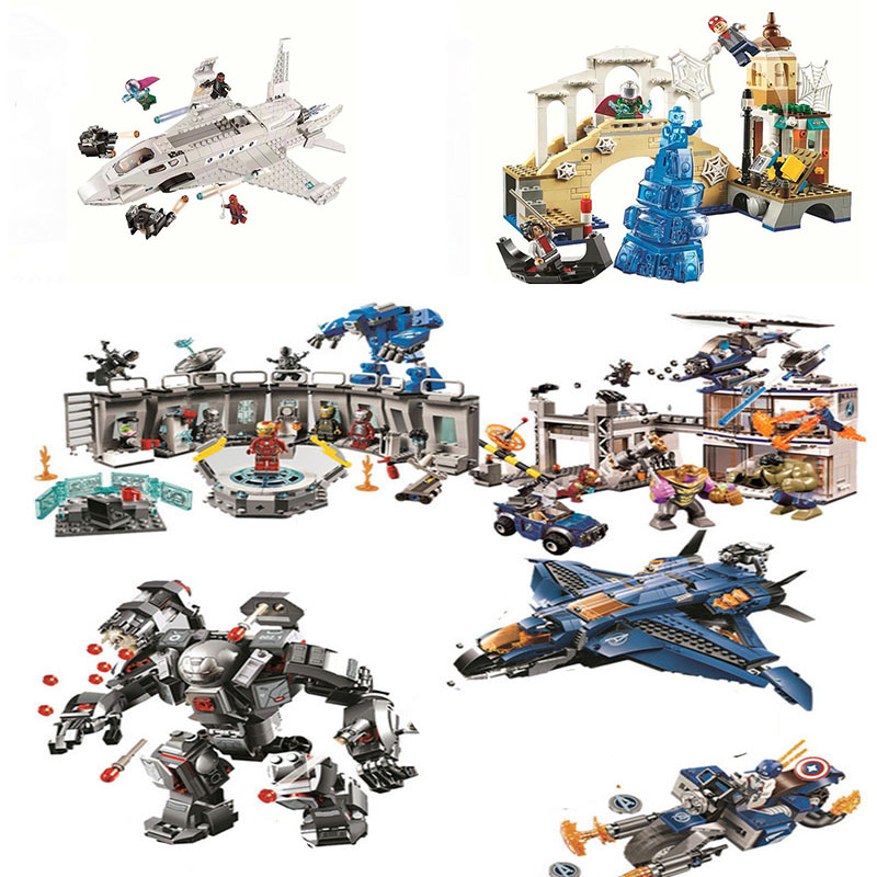 07120 07122 07123 Avengers 4 Endgame Ultimate Quinjet Set Compatible  76130 76129 76126 76131 Building Blocks Brick Toy
