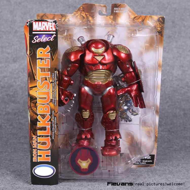 Marvel Select Homem De Ferro Hulkbuster PVC Action Figure Collectible Modelo Toy 22 cm HRFG454