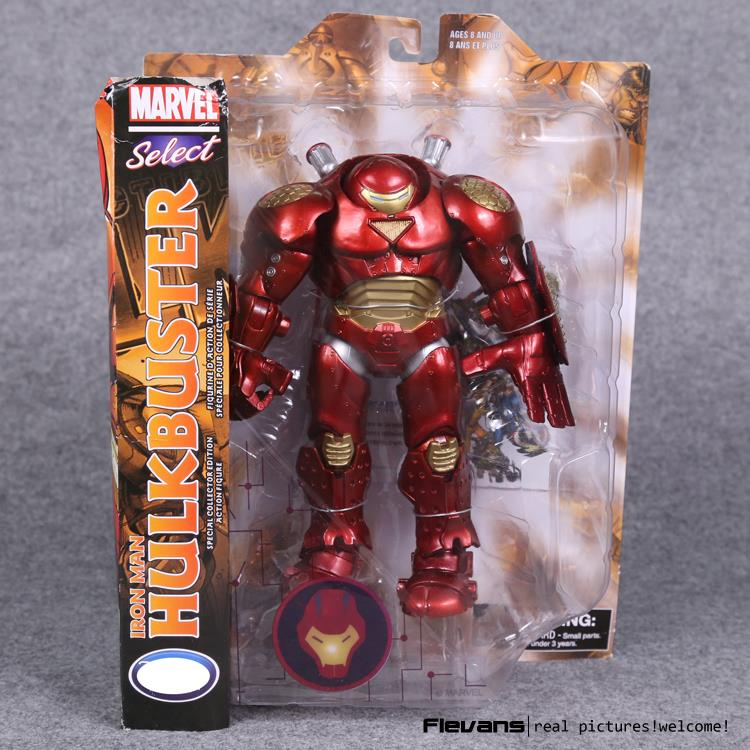 Marvel Select Iron Man Hulkbuster PVC Action Figure Collectible Model Toy 22cm HRFG454 marvel iron man mark 43 pvc action figure collectible model toy 7 18cm kt027