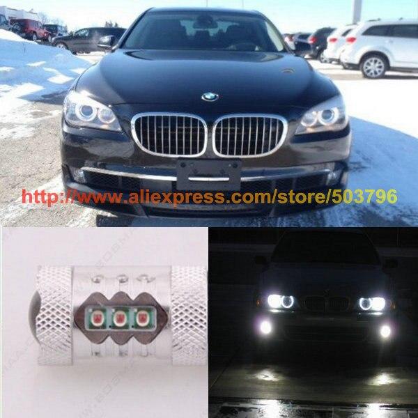 ФОТО Free Shipping 2Pcs/Lot car-styling Canbus 80w 12v CarLed Fog Light Bulb For Bmw Alpina B7 xDrive/Alpina B7L xDrive 11-12