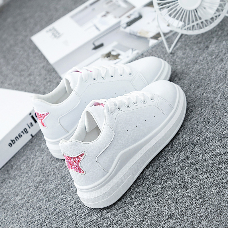 Spring Wedges Five-stars White Mesh Shoes Female Platform Sneakers Women Tenis Feminino Casual Female Shoes Woman