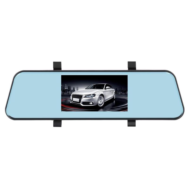 L403 HD 1080p Car Dual Lens DVR 4.3 inch IPS Rearview Mirror Dashboard Camera MOV Touch screen(China)