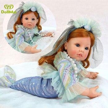 New little mermaid doll bebes reborn menina Princess vinyl silicone reborn baby girl dolls toys for children gift 24
