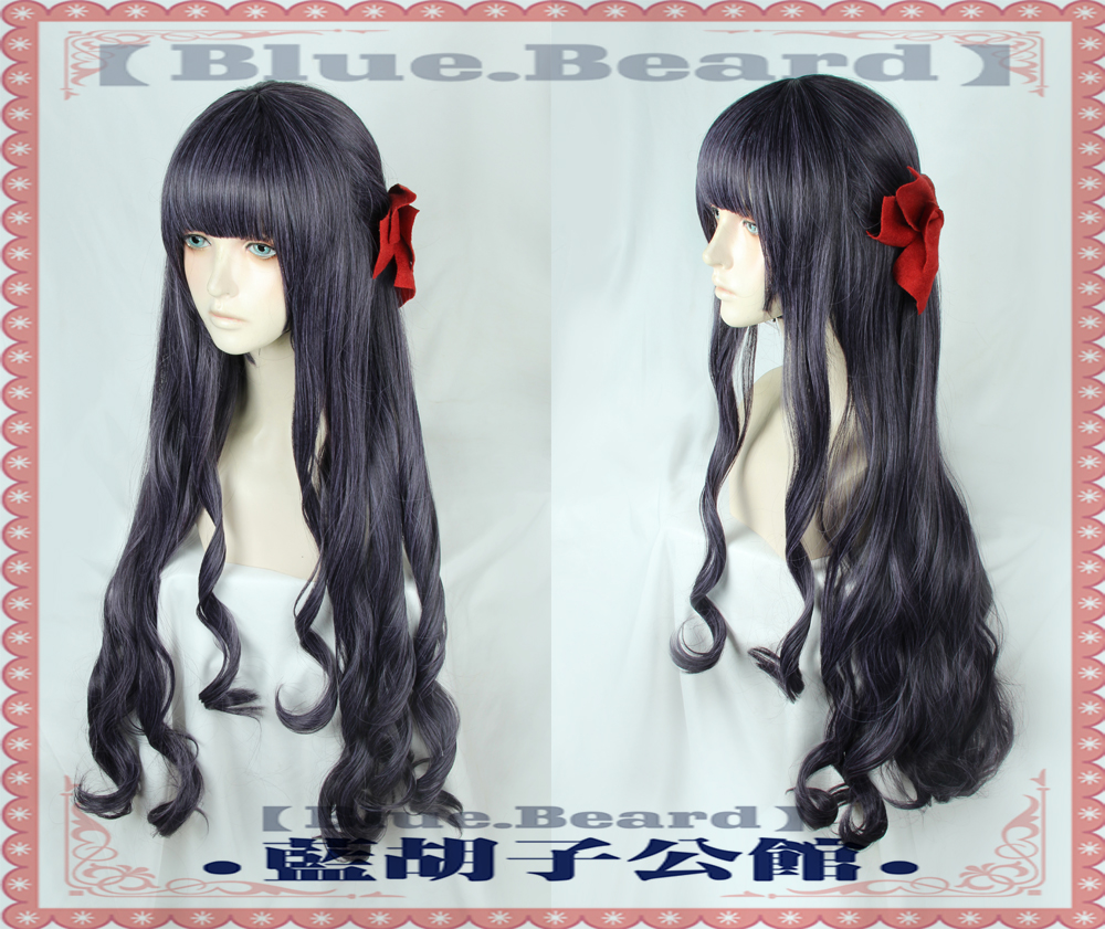 New Anime Card Captor Sakura CLEAR CARD Tomoyo Daidouji Cosplay Curly Hair Wig 90cm Role Play Curly Hair new wig cosplay ice blue curly split type wig page 5