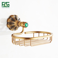 FLG Soap Dishes Modern Antique Bronze Finish Brass Basket Dish Holder Bathroom Accessories G130-07