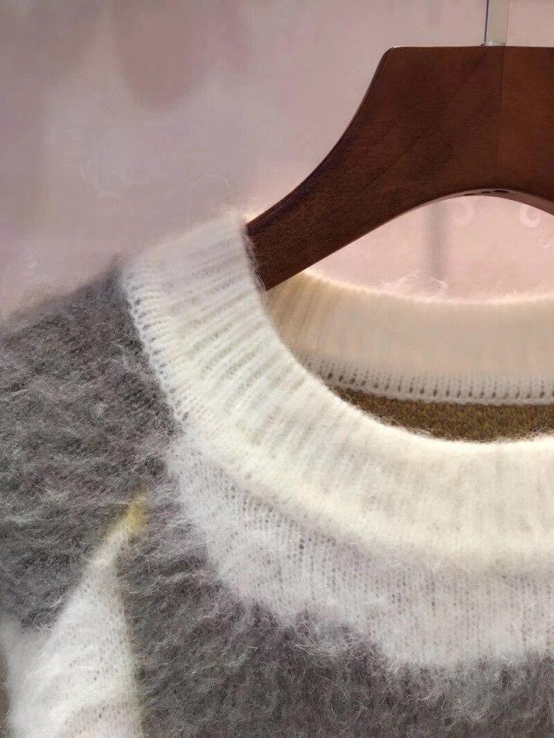 Muster Karte Pullover Winter Mohair Gelb Faul Frauen Ankunft 2017 Herbst Oansatz Neue SML Lose Und LUpjzqSVGM