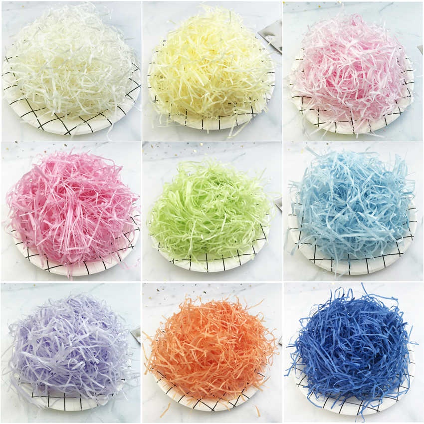 20g Colorful Shredded Paper Raffia Gift Box Filler Wedding Party Decoration Crinkle Cut Paper Shred Packaging Gift Bag Filler