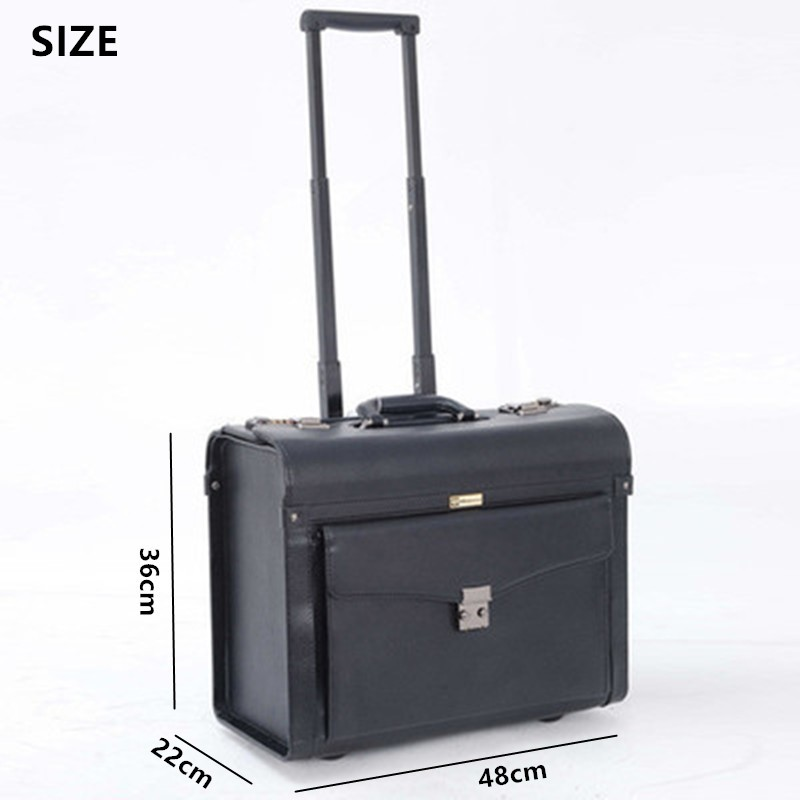 20-inch-Commercial-luggage-travel-bags-PU-computer-bag-male-female-password-box-boarding-Rolling-Carry (1)