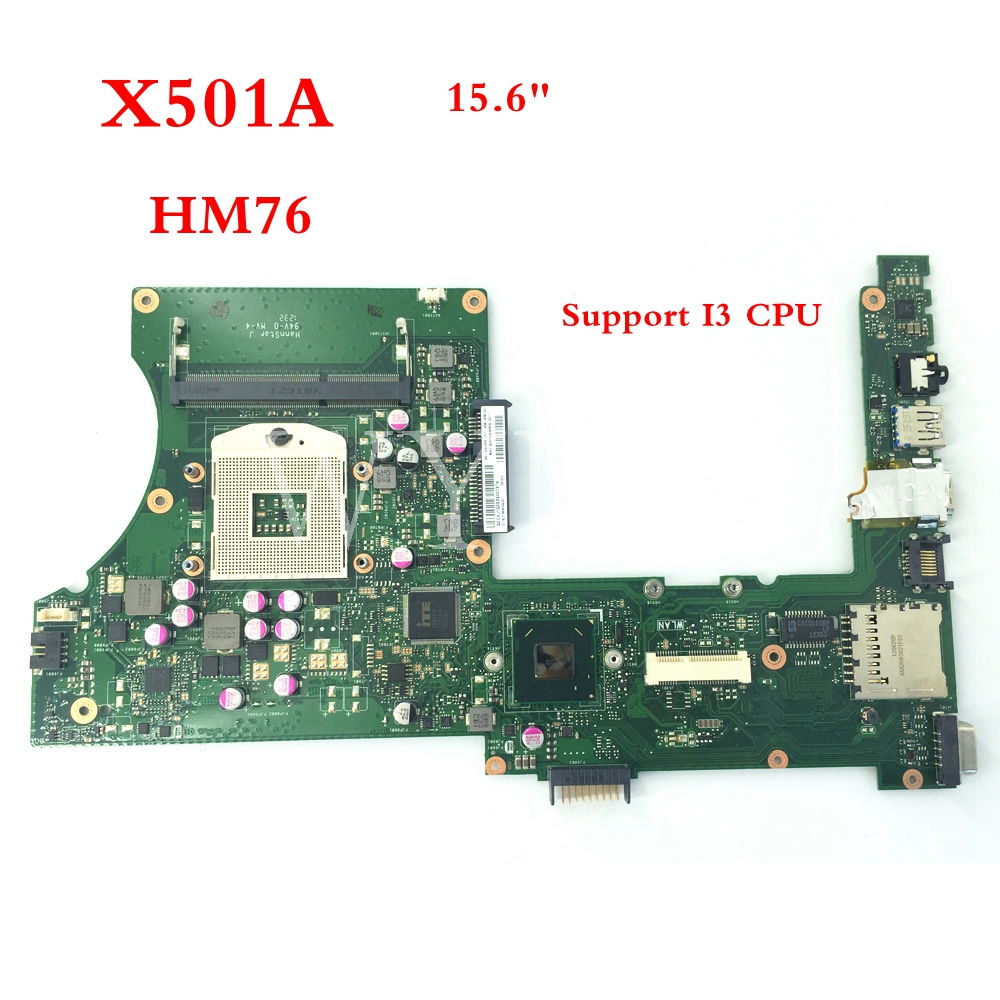 X501A SLJ8E Support I3 CPU HM76 REV 2.0 mainboard For ASUS X301A X401A X501A Laptop motherboard 60-NNOMB1102-A06 for asus x401a x501a hm70 sljnv b820 b940 laptop motherboard rev2 0 ddr3 pga989 mainboard 100