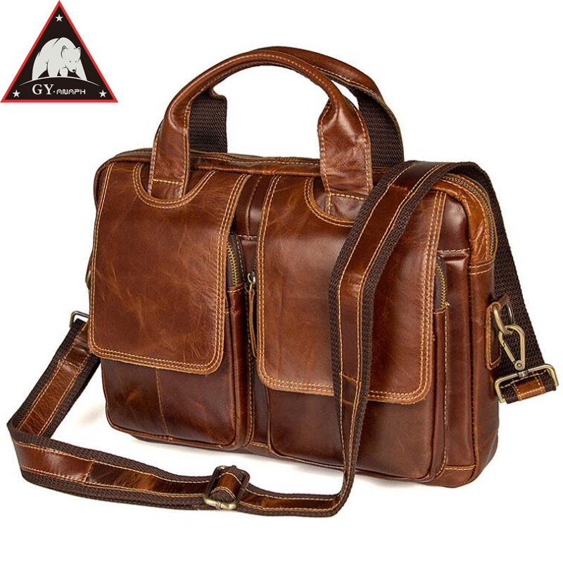 все цены на ANAPH Vintage Full Grain Genuine Leather Briefcases For Men Work Slim Messenger Bags Fits 13.3