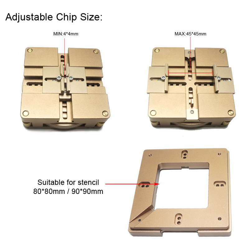 80mm/ 90mm BGA Reballing Station with magnet, auto adjust, the best reballing station with 4pcs universal stencils for free ангельские глазки 80 mm