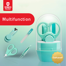 4PCS Baby Nail Scissors Set Lovely Nail Clippers Trimmer Nail Safety Scissors Nail Shell Shear Manicure Set Baby Care