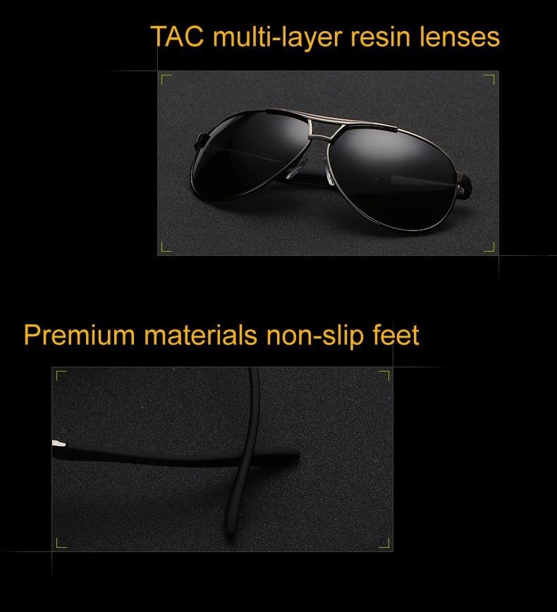 ddf0a1ae15 Classic Men Polarized Sunglasses Polaroid Driving Pilot Sunglass Man  Eyewear Sun Glasses UV400 High quality Brand CC0444