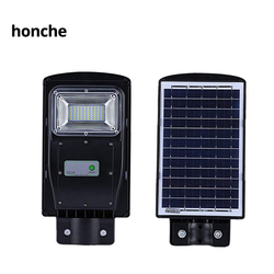 20W LED High brightness Solar Powered Street Light Dusk to Dawn LEDs Lamp Beads 6200K Cool White PIR Motion Sensor Lamps