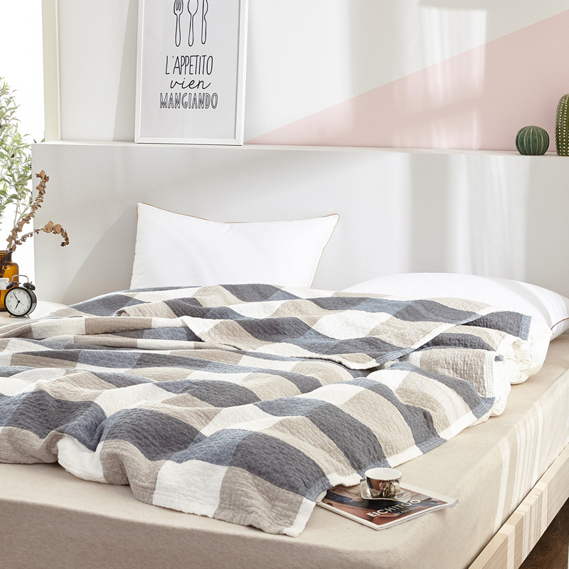 Simanfei Blankets Superfine Soft Cotton Single Double Bed Air Conditioning For Sofa and Plaid Towel