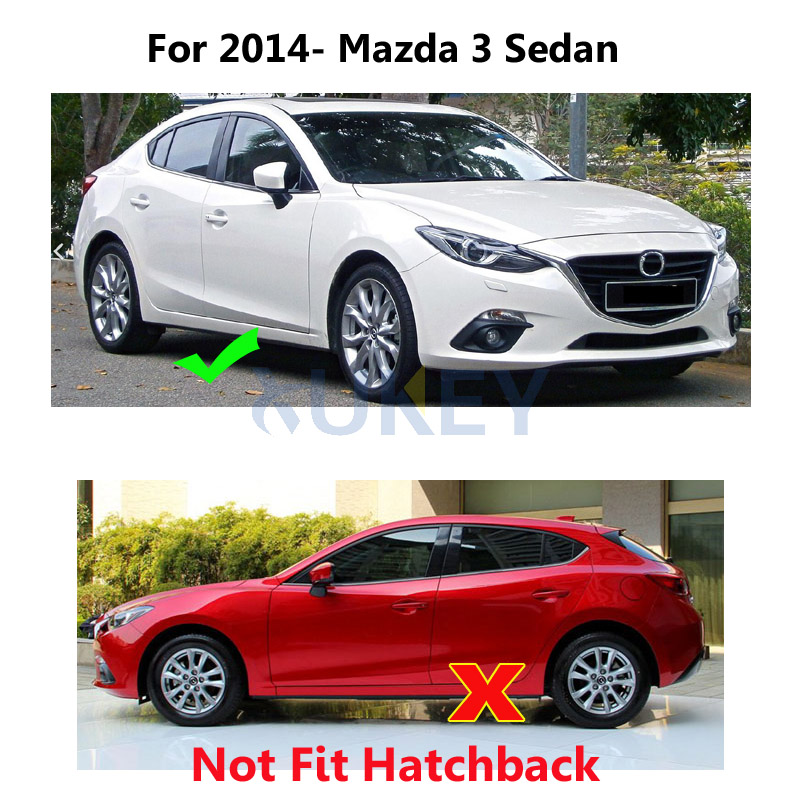 Aliexpress.com : Buy Front Rear Molded Mud Flaps For Mazda 3 (BM) Axela 4  Door Sedan 2014 2017 Mudflaps Splash Guards Mud Flap Mudguards 2015 2016  From ...