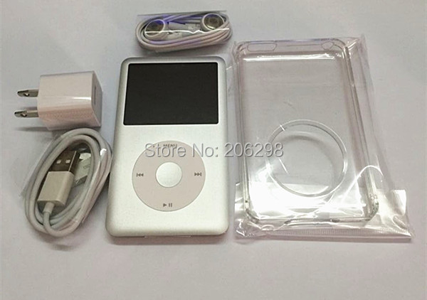Free shipping Silver for iPod classic 7th Generation 128G MP3/MP4player