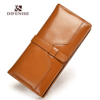 Difenise New Design Vintage Genuine Leather Wallet Women Long Style Cowhide Purse Wholesale And Retail Leather
