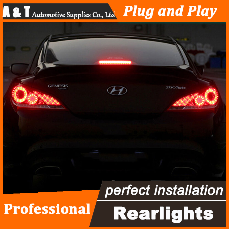 Car Styling LED Tail Lamp for Hyundai Rohens Coupe Taillights Coupe Rear Light DRL+Turn Signal+Brake+Reverse auto Accessories