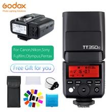 Flash Kit Flash & Trigger Godox Mini flash TT350 Flash controller X1T Shutter remote For Canon Nikon Sony Olympus/Panasonic Fuji цена и фото