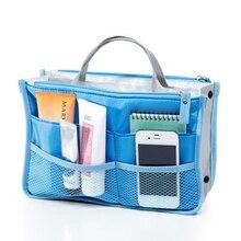 Zipper Make up organizer Women Men Casual travel bag multi functional Nylon Cosm