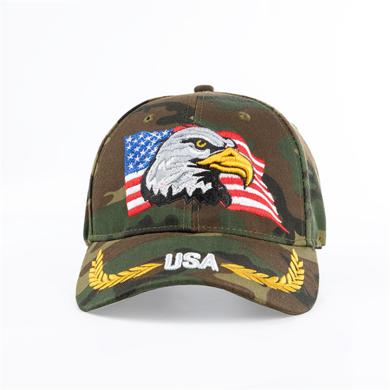 6d01e3f599b High Quality American Flag Camouflage Baseball Cap For Men Women Outdoor  Sun Hat Eagle Embroidery USA Sports Hats Casquette Caps-in Baseball Caps  from ...