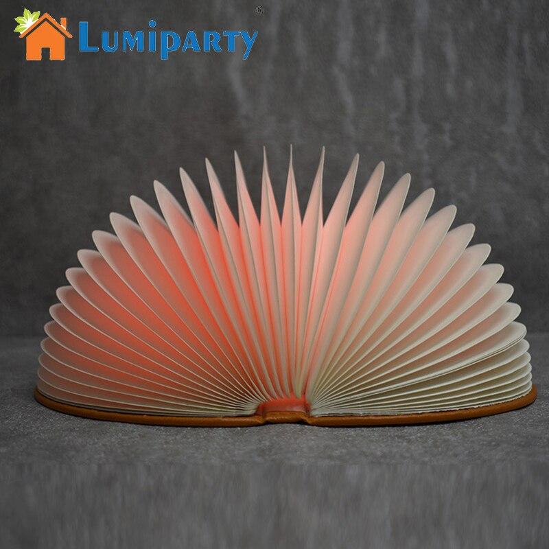 LumiParty светодиодный книга ночник дистанционного Управление складной стол настольная лампа USB Перезаряжаемые Творческий дом Декор ночники