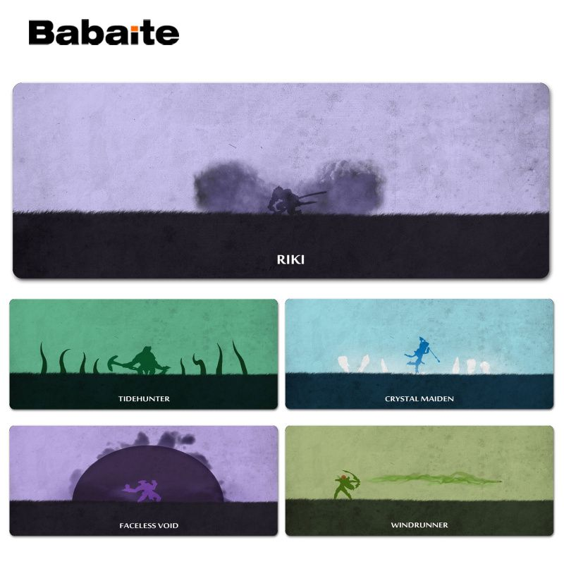 Babaite Custom Skin Dota2 Customized laptop Gaming Lockedge mouse pad Size for 30x60cm 30x90cm Speed Mouse Pad