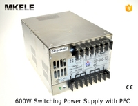 SP series multi terminals 12v 600w SP 600 12 50A single output PFC large power switching power supply from china factory