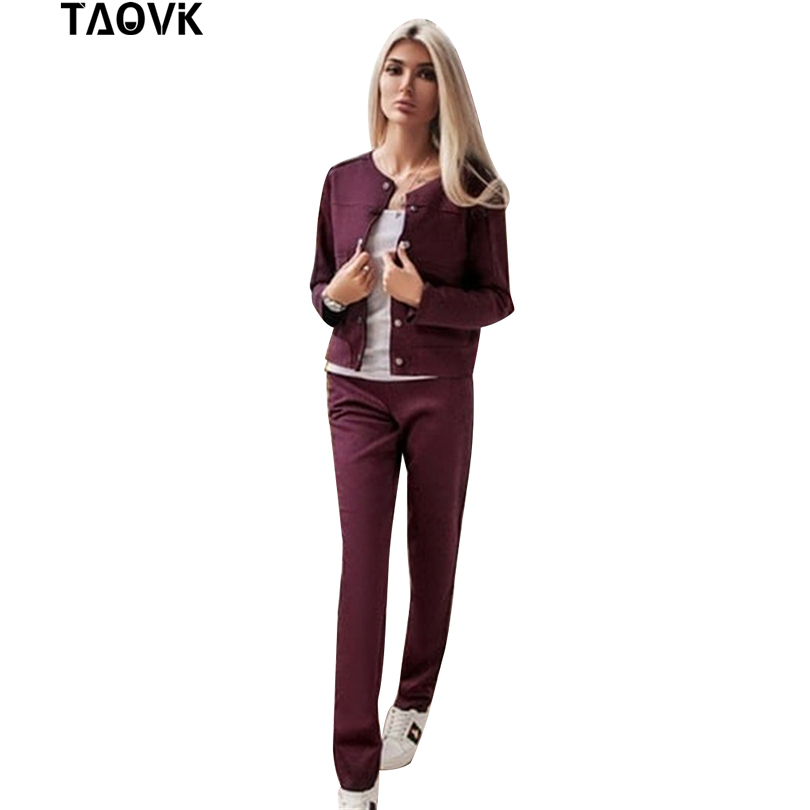 Women Suede Tracksuit Single-breasted Collarless Jacket + Pants  1