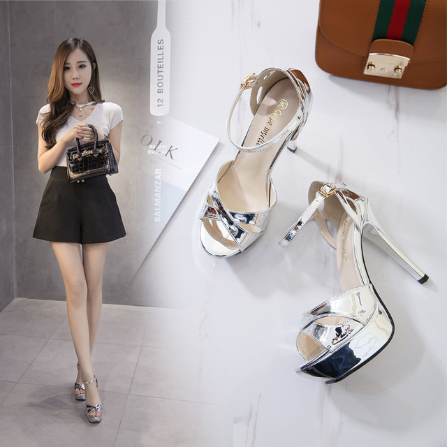 Sandales Femme 2019 Women Platform Sandals New style Shoes Summer Thick-soled High-heeled Sandals Buckled Open-toed Female ShoesSandales Femme 2019 Women Platform Sandals New style Shoes Summer Thick-soled High-heeled Sandals Buckled Open-toed Female Shoes