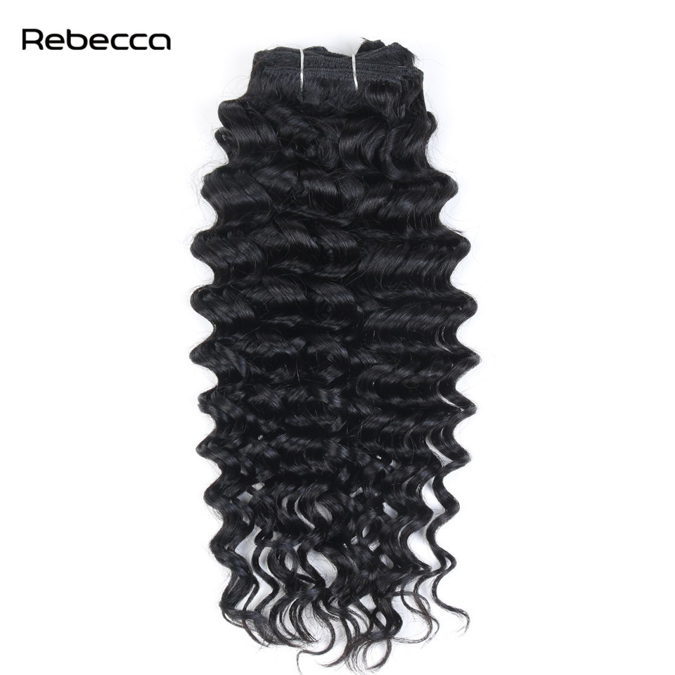 Rebecca Clip In Human Hair Extensions Peruvian Hair Afro Kinky Curly Non Remy Hair 7pcs set