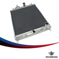 PQY YARıŞ-2 Satır 42 MM Alüminyum araba oto Radyatör Honda Civic Del Sol için 92-00 MT EG/ek PQY-SX103